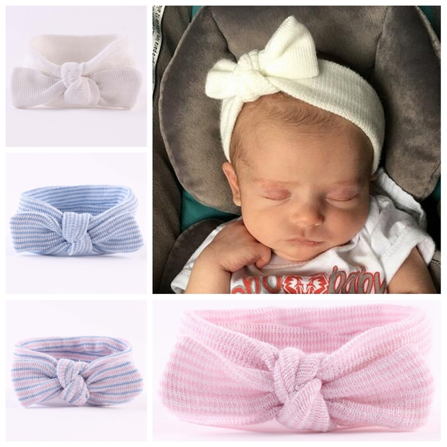 20e1759f7eec1 Nouveau-né bébé filles bandeaux cheveux accessoires bébé Bandeau arc coton  cheveux bande élastique lapin