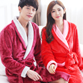 2017 Autumn and Winter Lovers Flannel Robe Male Women's Bathrobes Coral Fleece Thickening Long-sleeve Sleepwear Lounge Bathrobe