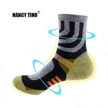 NANCY TINO Thicken Towel Mens outdoor Sports Sock Professional Basketball Riding Cycling Bicycle Breathable Knee-High Socks