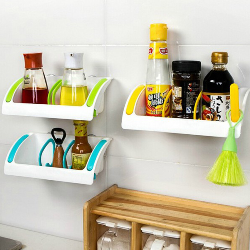 Useful Kitchen Tools Wall Sucker Edge Plastic Organizer Net Box ...