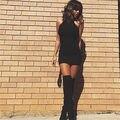 Женская мода Платье Повязки Дамы Тощий Платье Кожа Без Рукавов Sexy Party Bodycon женская О Шея Клубная Одежда Мини Платье