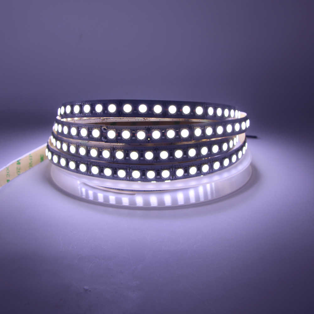 LED Strip 12 V 24 V 5 M 600 LED 5050 120LED/M 60 LED/M Flexible Light tahan Air LED Kecerahan Tinggi Tape RGB Hangat Putih Tali