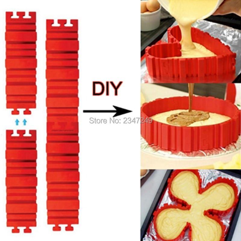 4Pcs / set Magic Bake Snakes Food Grade Silicone Cake Mould Bake Diy - სამზარეულო, სასადილო და ბარი - ფოტო 1