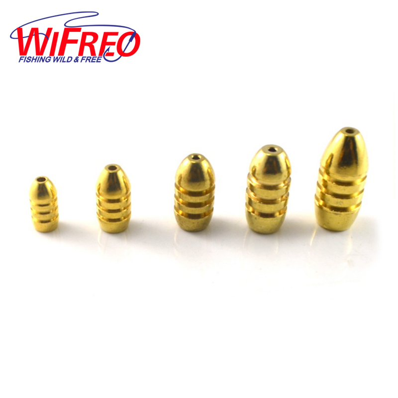 Brass Bullet Weight Sinkers Texas / Carolina Rig NEW Fishing Lure Bait penggantian Aksesori Lead Sinkers 1.7g / 3.5g / 5g / 7g / 10g