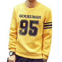 Hot Sell Fashion Spring Sweatshirt Men High End Print Letter Figure Pullover Sweatshirt Casual Brand Tops