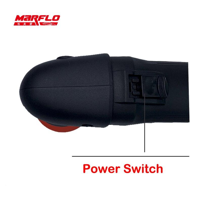 Image 3 - MINI polisseuse de voiture détaillant la Machine de polissage excentricité 80mm double Action polissage épilation outils 6 vitesses MarfloPolisseuse de voiture   -