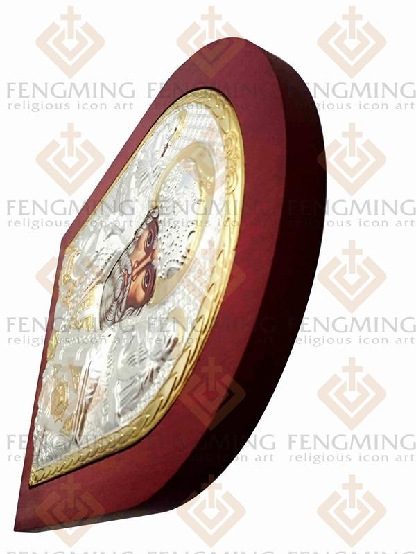 31 * 26,5cm Greacă bizantină ortodoxă icoană de argint a - Decoratiune interioara - Fotografie 4