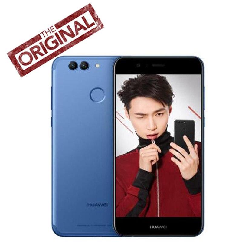 Новый оригинальный huawei Nova 2 телефона Android 7,0 ОС Octa Ядро 4G RAM 64g ROM 5,0 дюйма 1920*1080 P фронтальная камера 20.0MP глобальной прошивки