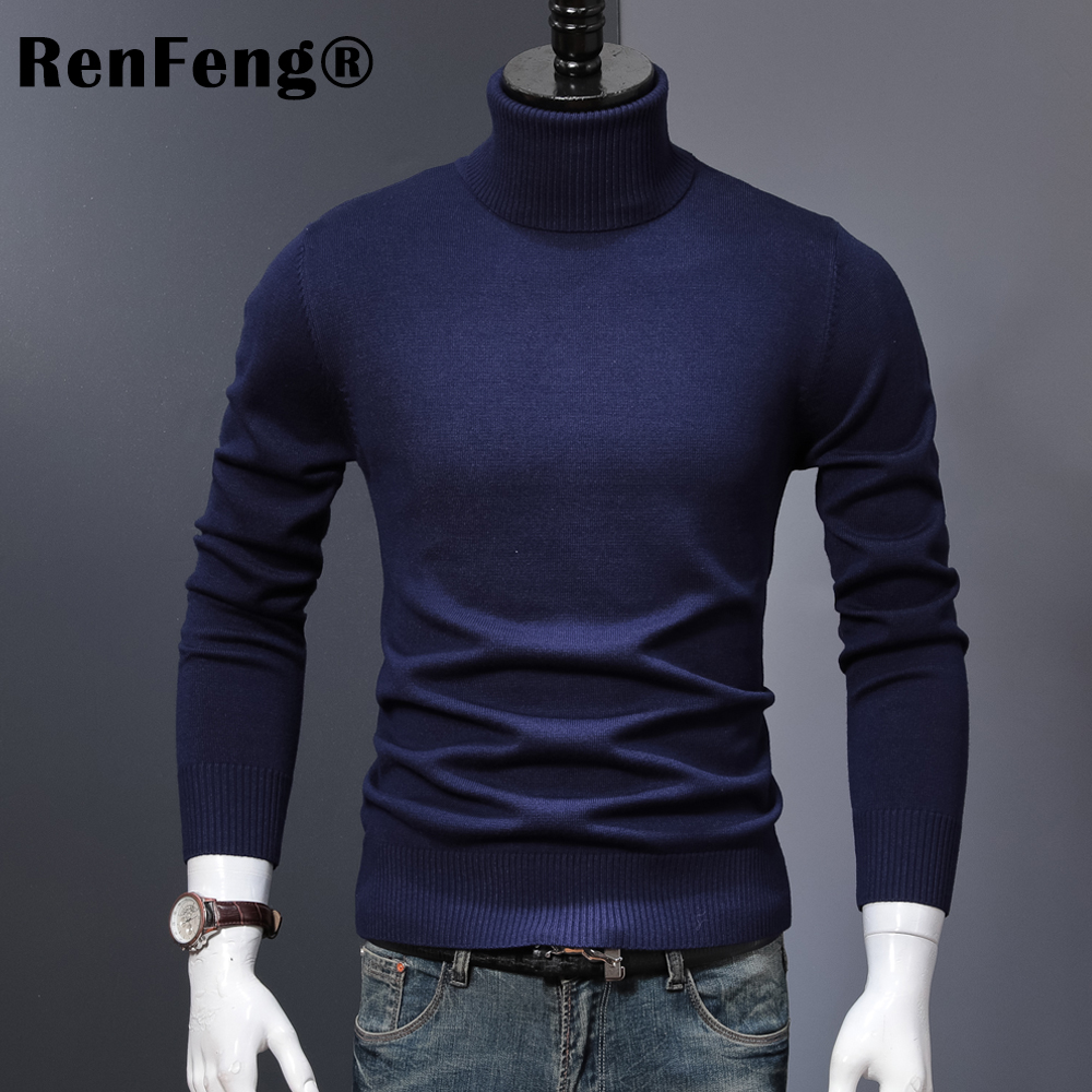 Winter Thick Warm Cashmere Sweater Men Turtleneck Mens Sweaters 2018 Slim Fit Pullover Men Classic Wool Knitwear Pull Homme (2)
