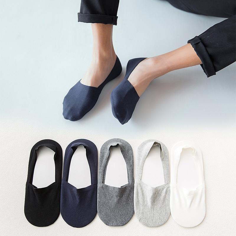 Men Invisible   Socks   Unisex Low Cut Ankle   Socks   Men Male Casual Soft Cotton Non-slip Silicone Boat   Sock   meia 1pair=2pcs ws7413