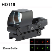 Dagger Defense 1X22mm Red Dot Reflex sight for AR15/AK47/M4 Highly Accurate Gun optic and substitute for overpriced holograph