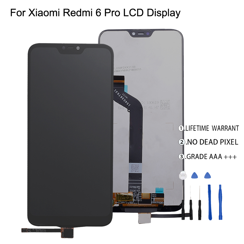 Original For Xiaomi Redmi 6 Pro LCD Display Touch Screen Digitizer For Xiaomi Mi A2 Lite LCD Display Screen Assembly Phone Parts