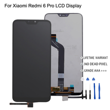 Original For Xiaomi Redmi 6 Pro LCD Display Touch Screen Digitizer For Xiaomi Mi A2 Lite LCD Display Screen Assembly Phone Parts for xiaomi redmi 2 lcd display digitizer touch screen assembly replace hongmi 2 pro 2a redmi2 parts and free tools