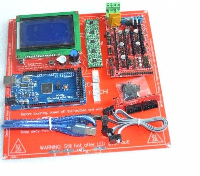 Livraison gratuite rapide imprimante 3D carte mère Suite rampes 1.4 pour Arduino mega 2560 A4988 pilote carte imprimante 3D Kit