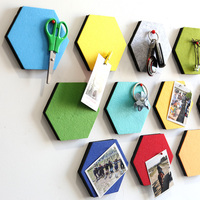 Aqumotic 1pc Hexagonal Wall Stickers Send Nails Multifunctional Background Wallpaper Durable Beautiful Message Board Glue