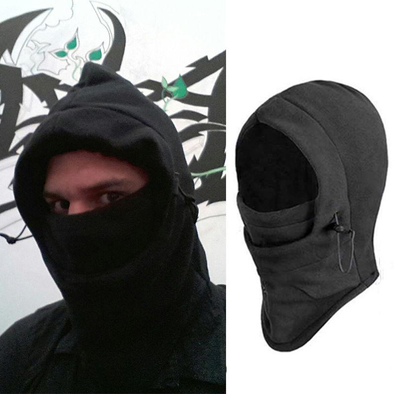 New Fashion Neck Balaclava Hat Winter Warm Face Fleece Hood Mask Helmet Hat  Skullies   Beanies 22ad5c0f422
