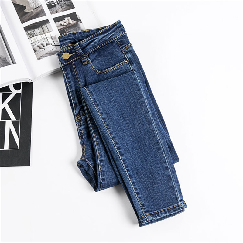 JUJULAND Jeans Female Denim Pants Black Color Womens Jeans Donna Stretch Bottoms Skinny Pants For Women Trousers 8175 7