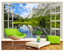 Custom landscape 3d wall wallpaper high-definition wooden frame red maple leaf waterfall expansion space background custom photo tama sms455ft gsb starclassic maple japan custom