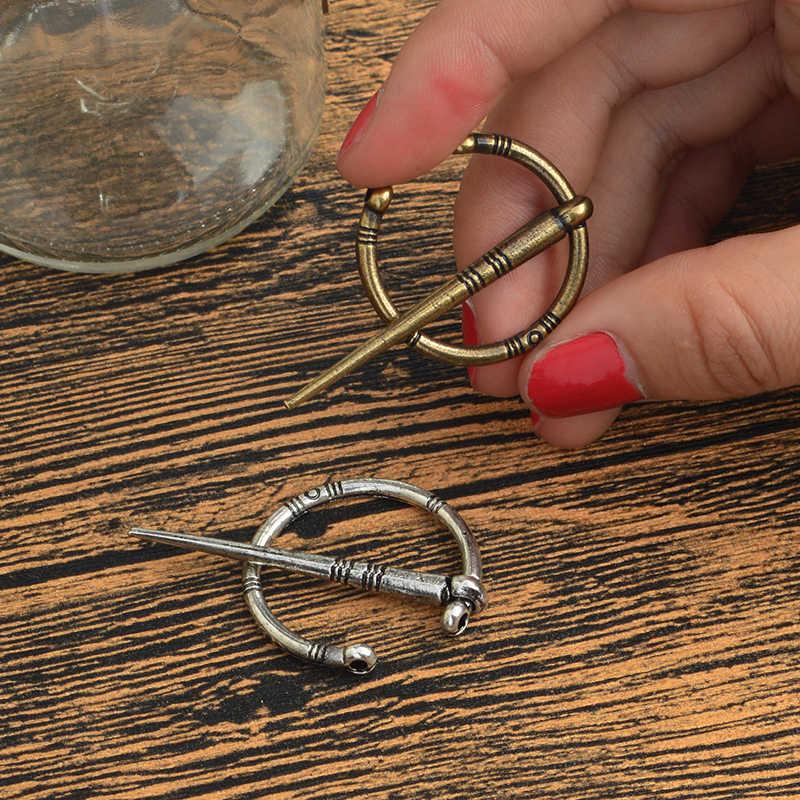 Perunggu Perak Rose Emas Viking Pin Bros Mantel Sweter Jubah Gesper Vintage Viking Usia Perhiasan Hadiah untuk Pria Teman