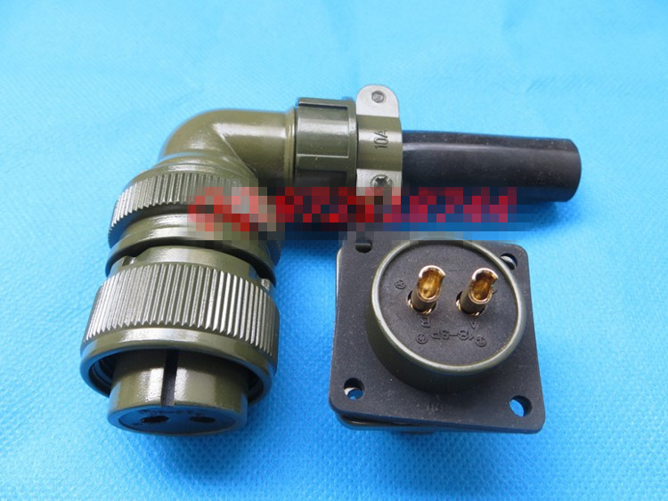 все цены на Original new 100% 5015 MS3108A18-3S MS3102A18-3P 2 American Standard aviationplug bent core waterproof connector