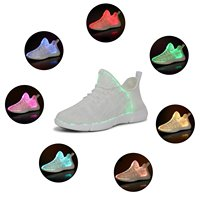 KRIATIV Luminous Sneakers Glowing Light Up Shoes for Kids White LED Sneakers Children Flashing Shoes with Light for Adult&Kid 1