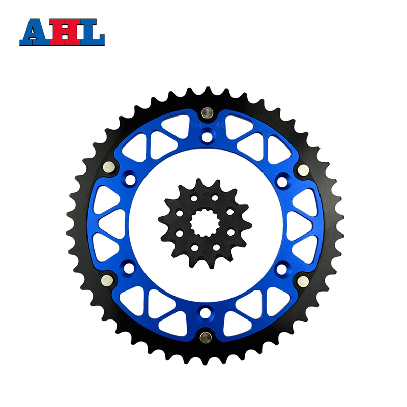 Motorcycle Parts 46-14 T Front & Rear Sprockets Kit For YAMAHA YZ450F YZ 450F YZ450 YZ 450 F 2003-2014 Gear Fit 520 Chain