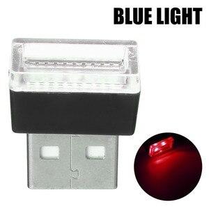 Image 5 - 1 Máy Tính Mini USB Đèn LED Xe Hơi Ô Tô Trang Trí Nội Thất Neon Bầu Không Khí Xung Quanh Đèn Đỏ Tím Trắng Màu Xanh