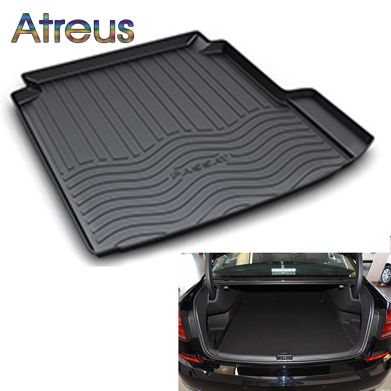цены Atreus Car Rear Trunk Floor Mat Durable Carpet For Volkswagen VW Passat B8 B7 2011-2018 Boot Liner Tray Waterproof Anti-slip mat