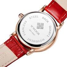 Top Brand Ladies Luxury Quartz Sport Rose Gold Women Watch Genuine Leather Wristwatch Relogio Feminino Diamonds Lover's Watches