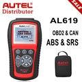 100% Оригинальные AUTEL Автоссылки AL619 Русский ABS SRS OBDII CAN Диагностический Инструмент Устранения Неполадок Код Сканер Бесплатный Онлайн Обновление
