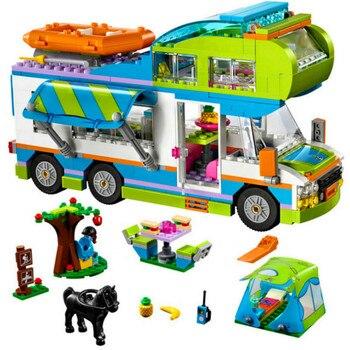 Good Friends Girl Series The Motorhome Compatible LegoINGLYs Friends 41339 Building Blocks Bricks Toys Children Christmas Gift