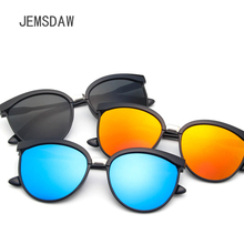 JEMSDAW European and American latest fashion dazzling Sunglasses retro trend reflective driving sunglasses UV400 niksihda 2019 european and american pop polarized sunglasses fashion sunglasses anti ultraviolet sunglasses uv400