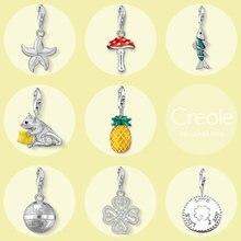 Toadstool – pendentif poisson souris ananas Globe Clover, porte-bonheur amour joie, bijoux à la mode, cadeau en argent Sterling 2019, 925