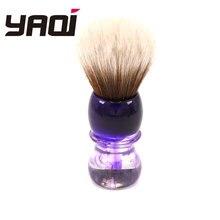 Yaqi หมอกสีม่วง Mew สังเคราะห์สีน้ำตาล Handle แปรงโกนหนวดเคราสำหรับผู้ชาย