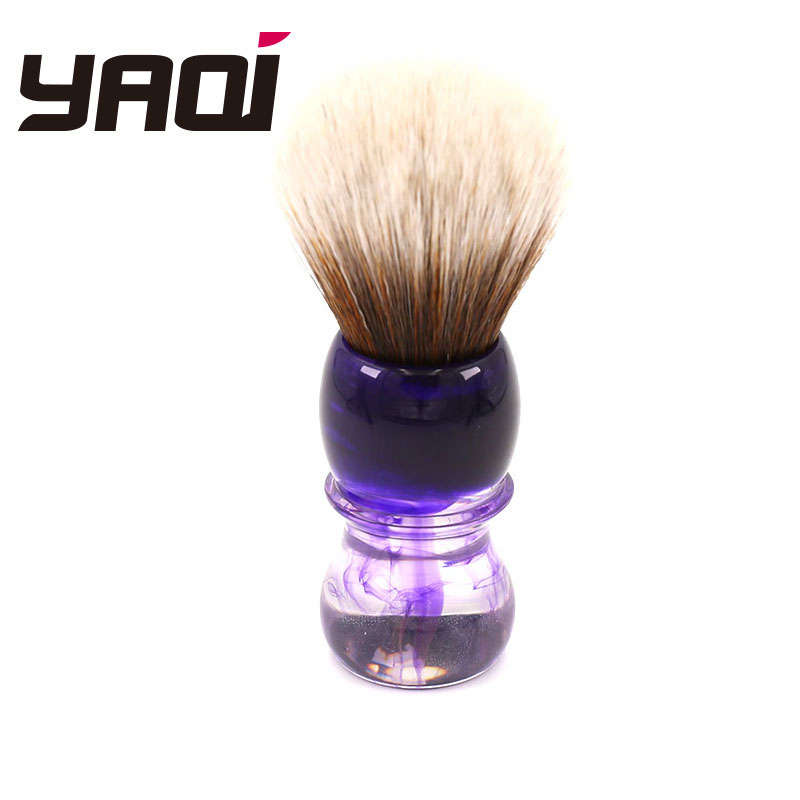 Yaqi Purple Haze Mew Brown Synthetic Handle Men's Beard Shaving Brush