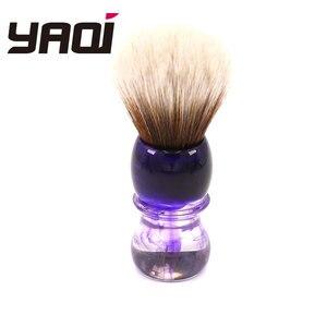 Image 1 - Yaqi fioletowy Haze Mew brązowy syntetyczny uchwyt męski pędzel do golenia brody