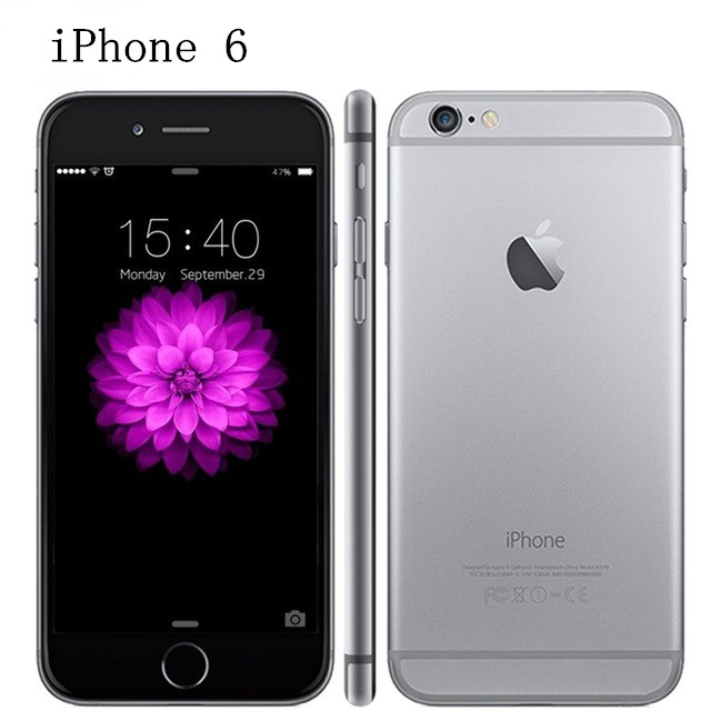 100% Original iPhone 6 Unlocked 4.7 Inch Dual Core 1.4 GHz 1GB RAM 16/64/128GB ROM 8MP Camera LTE IOS IPS Used Mobile Phone