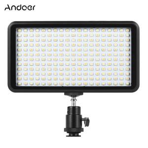 Image 1 - Andoer Ultra dunne 3200 k/6000 k LED Light Panel Lamp Studio Video Fotografie 228 stks Bead voor canon Nikon DSLR Camera DV Camcorder