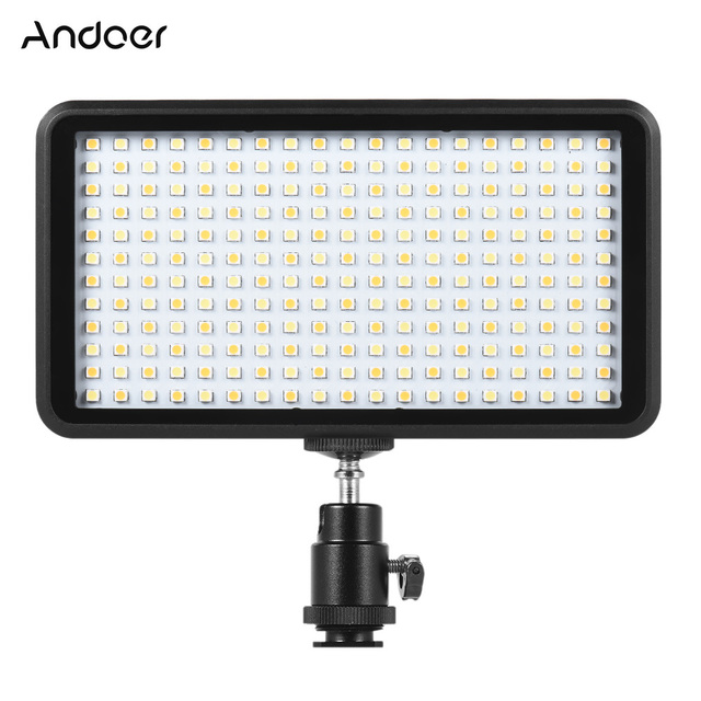 Andoer Ultra dunne 3200 k/6000 k LED Light Panel Lamp Studio Video Fotografie 228 stks Bead voor canon Nikon DSLR Camera DV Camcorder