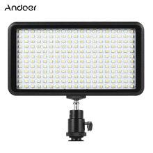 Andoer Ultra ince 3200 K/6000 K led ışık panel lambası Stüdyo Video Fotoğrafçılığı 228 adet Boncuk Canon Nikon için DSLR Kamera DV Kamera
