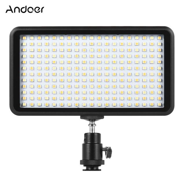 Andoer Ultra thin 3200K/6000K LED Light Panel Lamp Studio Video Photography 228pcs Bead for Canon Nikon DSLR Camera DV Camcorder