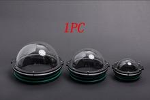 1 шт. 90/110/130/160 мм ROV акриловая крышка купол, подводный робот, фотография, шарнирный шарнир, сферические капсулы, детали для AUV
