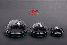 1PC 90/110/130/160mm ROV kopuła akrylowa pokrywa podwodny Robot fotografia Gimbal sferyczne części kapsułki dla AUV