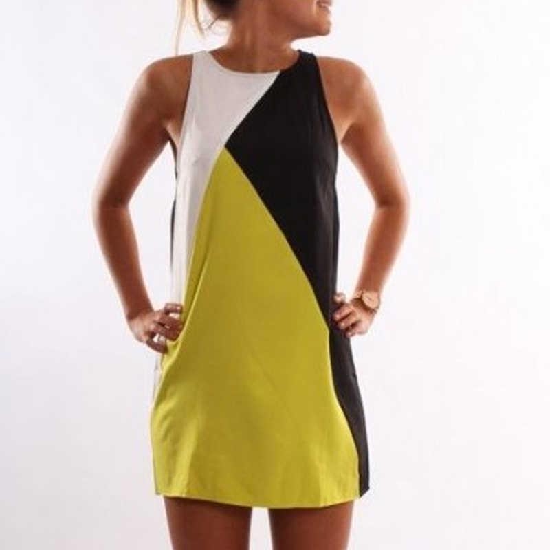 1384dcc58e45e Hot Sale Summer A-Line Dress Women Patchworl Color Stripe&Geometric Dresses  Ladies Elegant&Casual Sundress Drop Shipping
