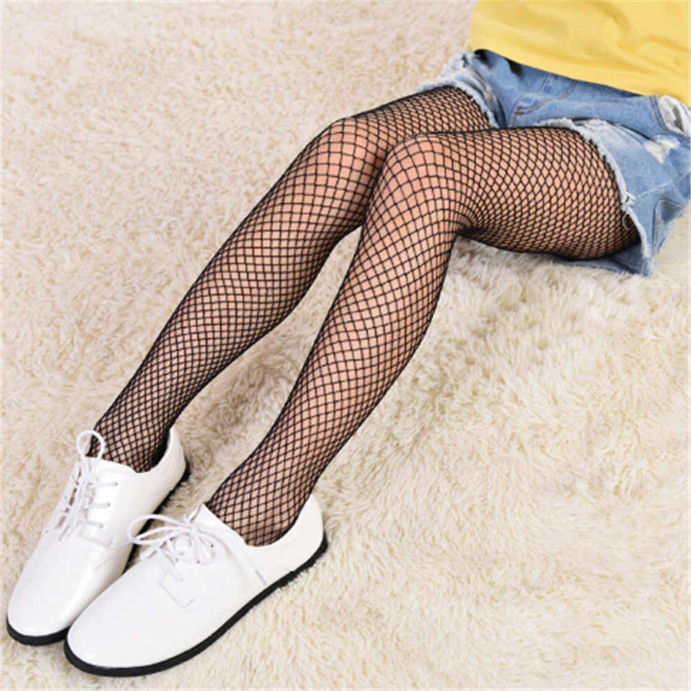 c046b0bee New Fashion Kids Girl Lace Fishnet Stockings Summer Children Black  Pantyhose Mesh Tights Ripped Jeans Net