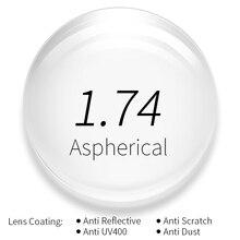 2b79b8fd5 1.74 سامسونج رؤية واحدة وصفة طبية النظارات عدسات طبية مع كامل الأشعة فوق  البنفسجية حماية و مكافحة انعكاس طلاء 2 قطعة