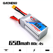 Gaoneng GNB Rechargeable 650mAh 14.8V 4S 80C/160C Lipo battery XT30 Plug for FPV Racing Drone RC Quadcopter Helicopter parts