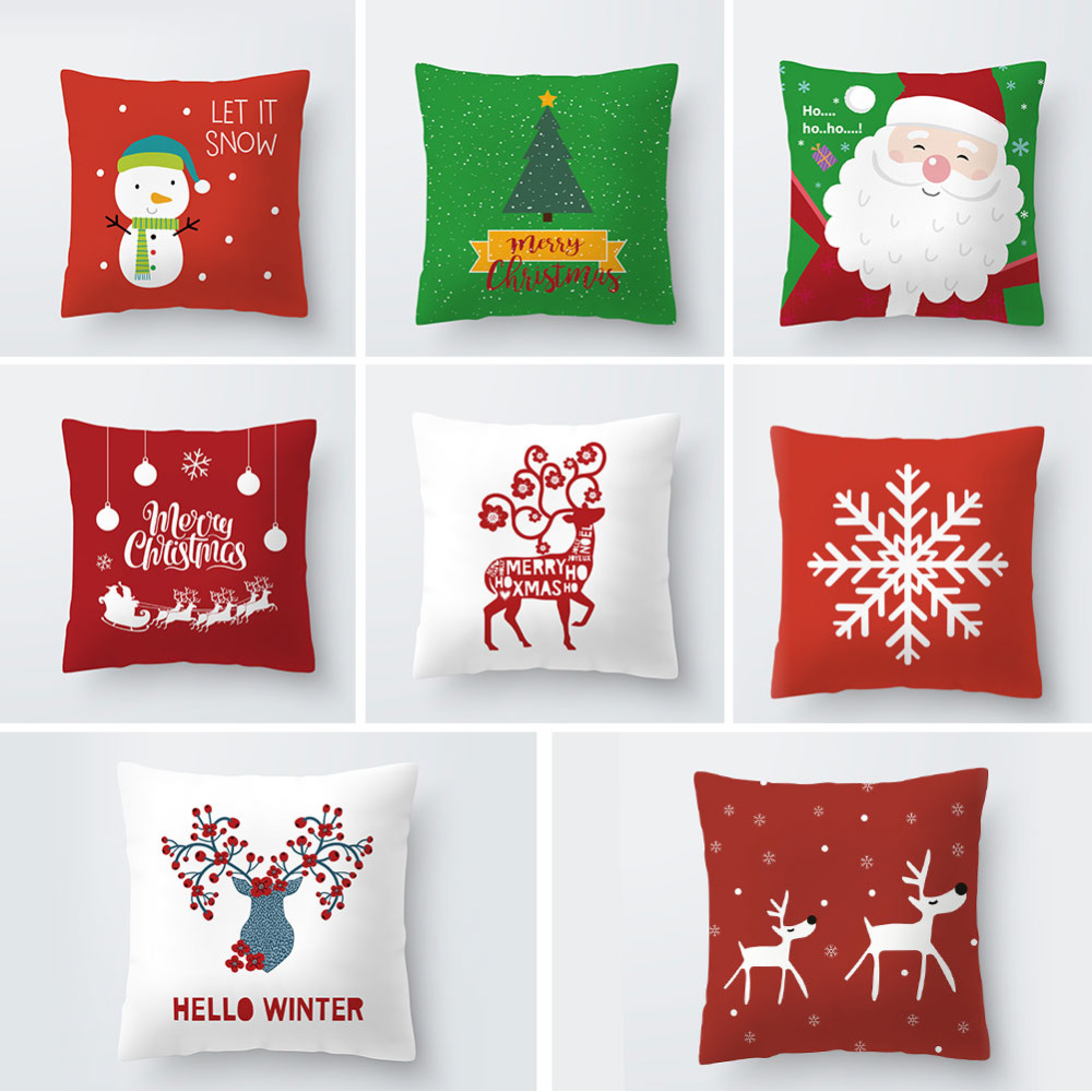 merry christmas decorative pillows cover top quality cartoon throw pillow case 45cmx45cm home textile