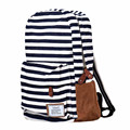 2017 High Quality Women Backpacks Casual Double-Shoulder Stripe Canvas Backpack Schoolbag Oversize Travel Bags Drop shipping