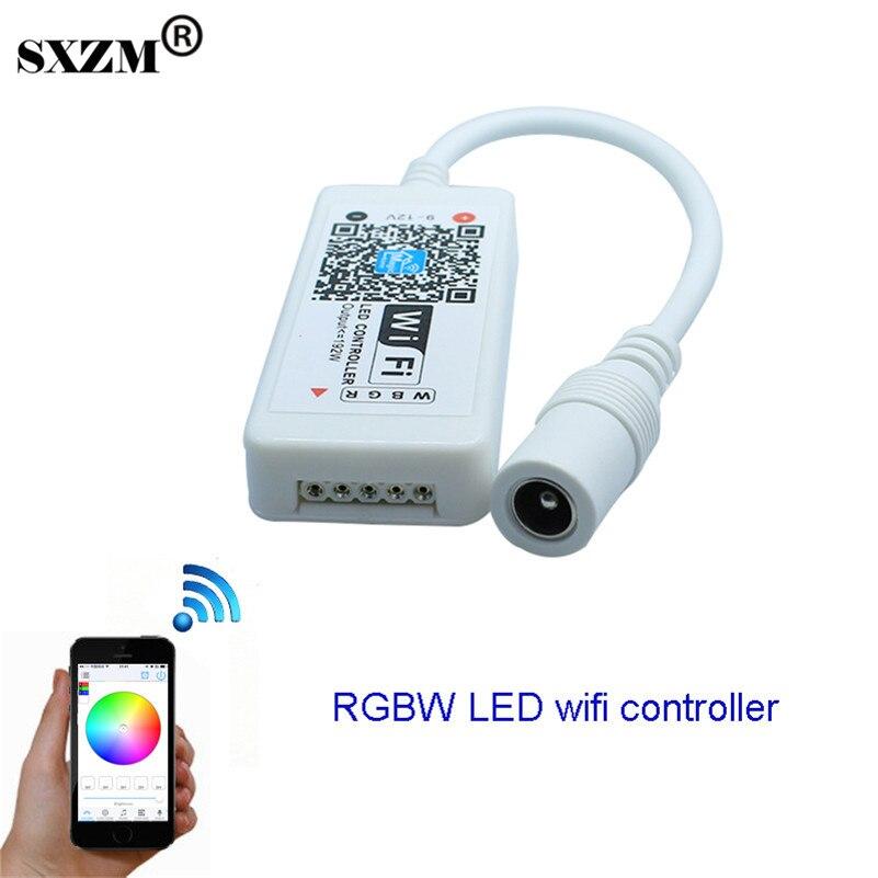 SXZM Wifi LED RGBW Controller DC12V mini controller per 5050 RGBW LED Strip light module spedizione gratuita